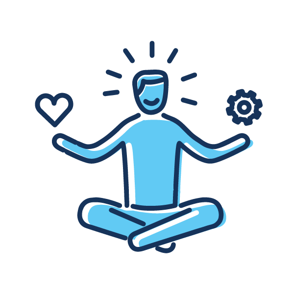 Someone meditating to represent stress management