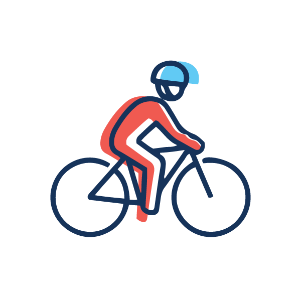A biker to represent physical activity and exercise