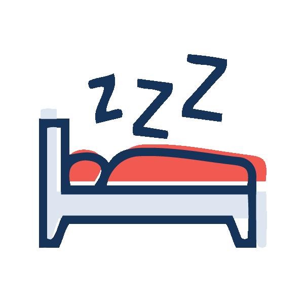 Someone sleeping to represent sleep