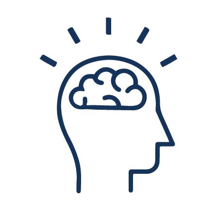 A head with a brain to represent a healthy brain