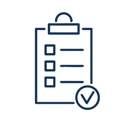 A clipboard with a checklist
