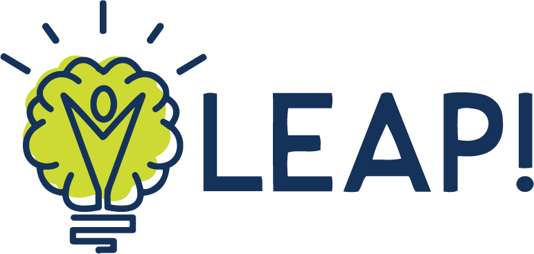 LEAP! logo, light bulb